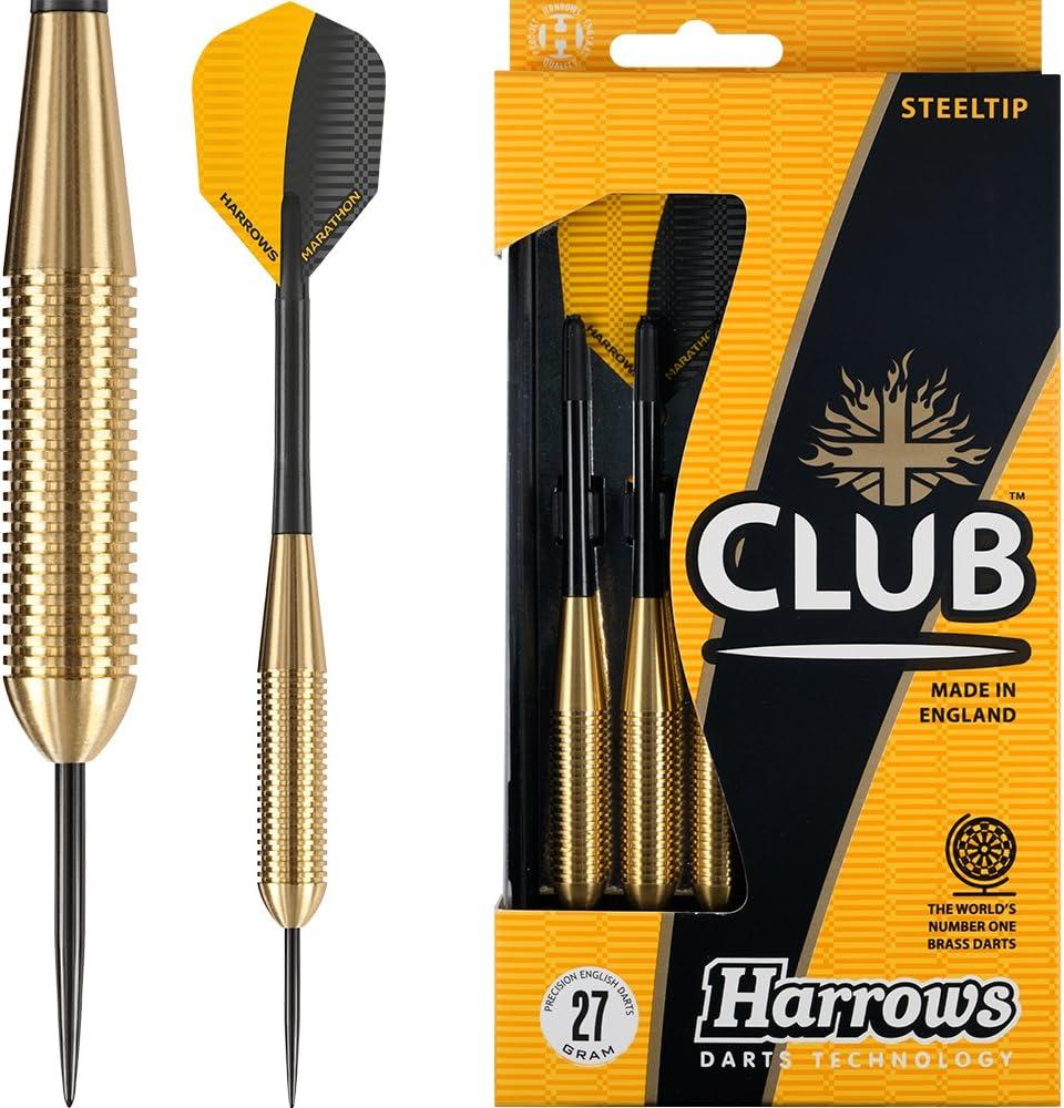 HARROWS Club Messing Darts Set/ /Stahl Spitze/ /27/G mit Ringen/ /mit Darts Ecke Checkout-Karte