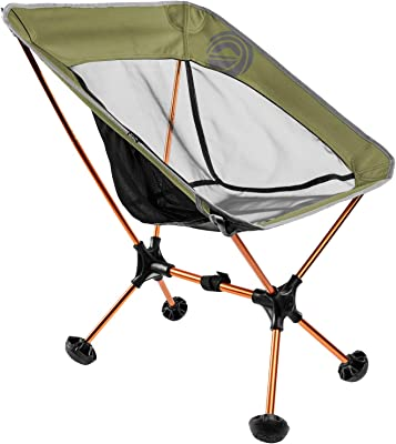 Terralite Portable Camp Chair. Perfect for Camping, Beach, Backpacking & Outdoor