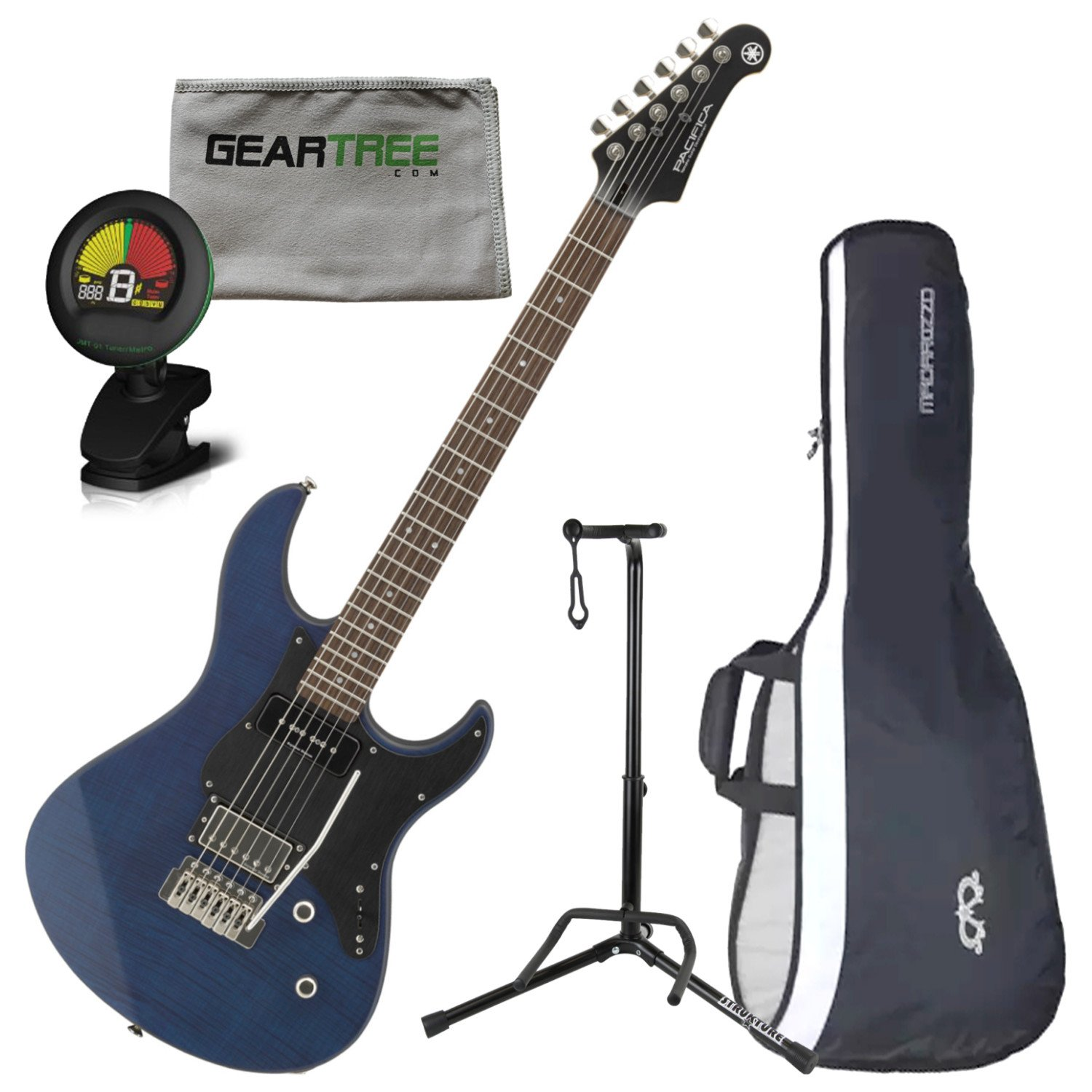 Amazon.com: Yamaha PAC611VFMX MRLB Limited Edition Electric Guitar (Matte Trans Blue) w/Bag: Musical Instruments