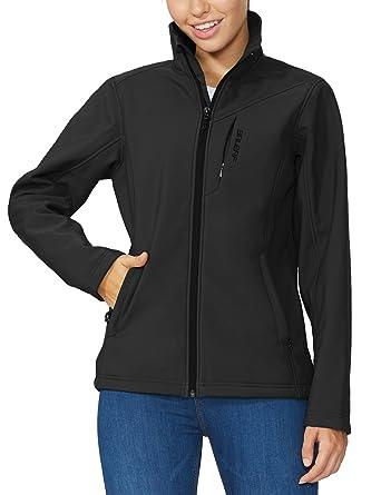 70083acfba0b8 Baleaf Women's Softshell Outdoor Jacket Waterproof Windproof Fleece Lined  Winter Coat