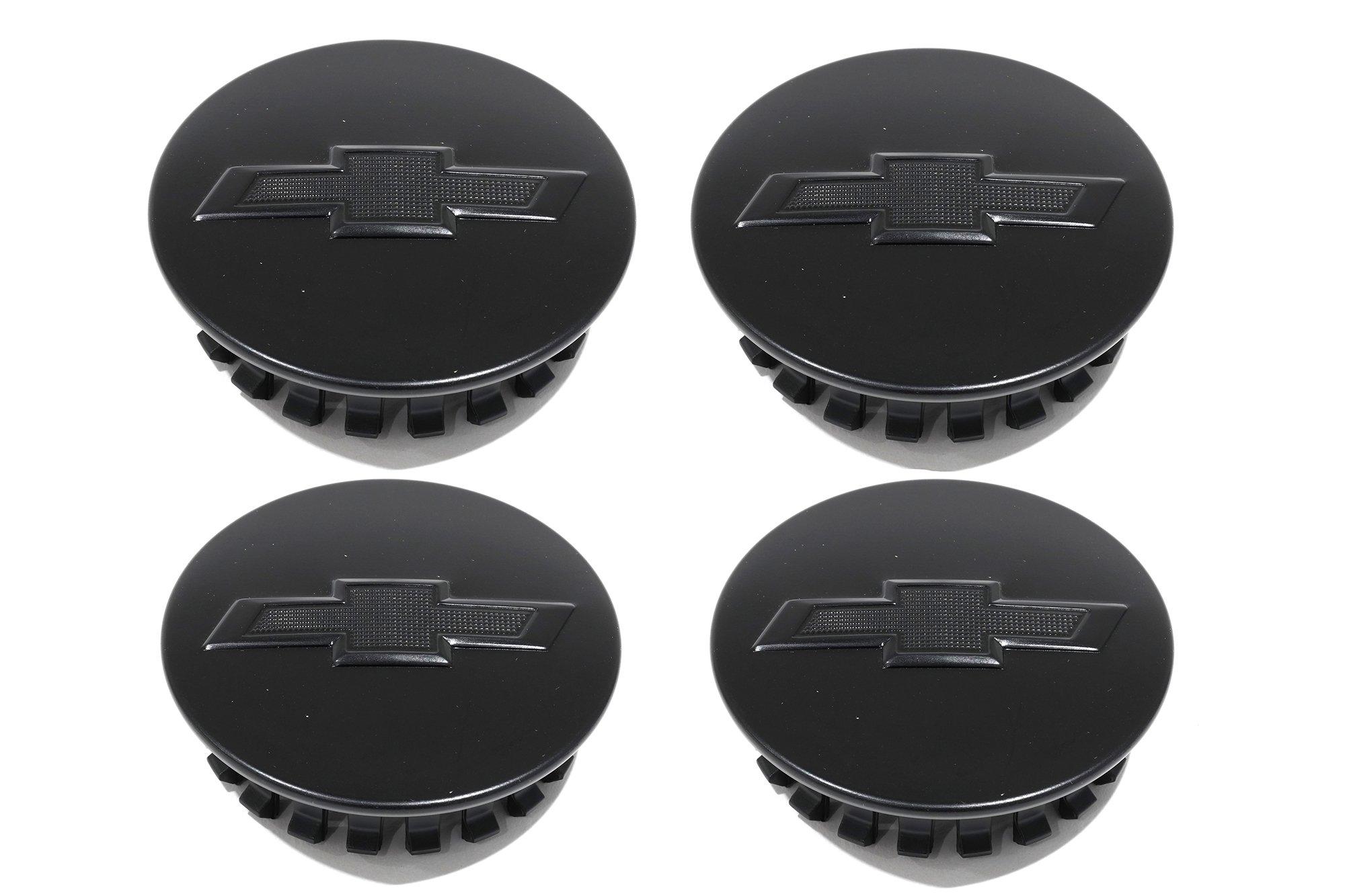 OEM NEW Wheel Center Caps Set of 4 Satin Black w/ Bowtie 16-17 Camaro 23115614