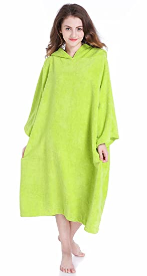 3eac00081d9738 Winthome Changing Towel Robe, Surf Poncho (Green): Amazon.ca: Sports ...