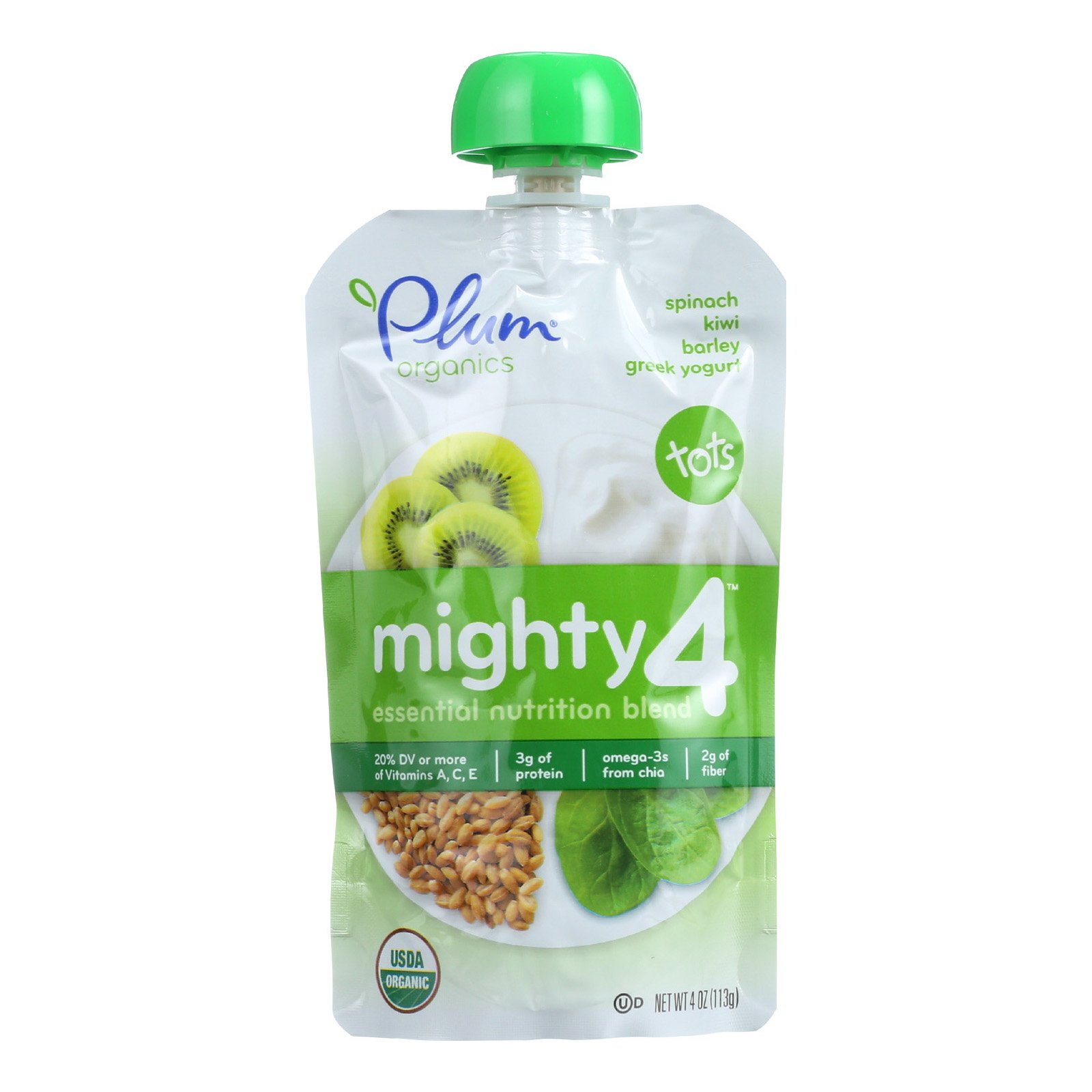 Plum Organics Yogurt Grk Spnch Kiwi Bar