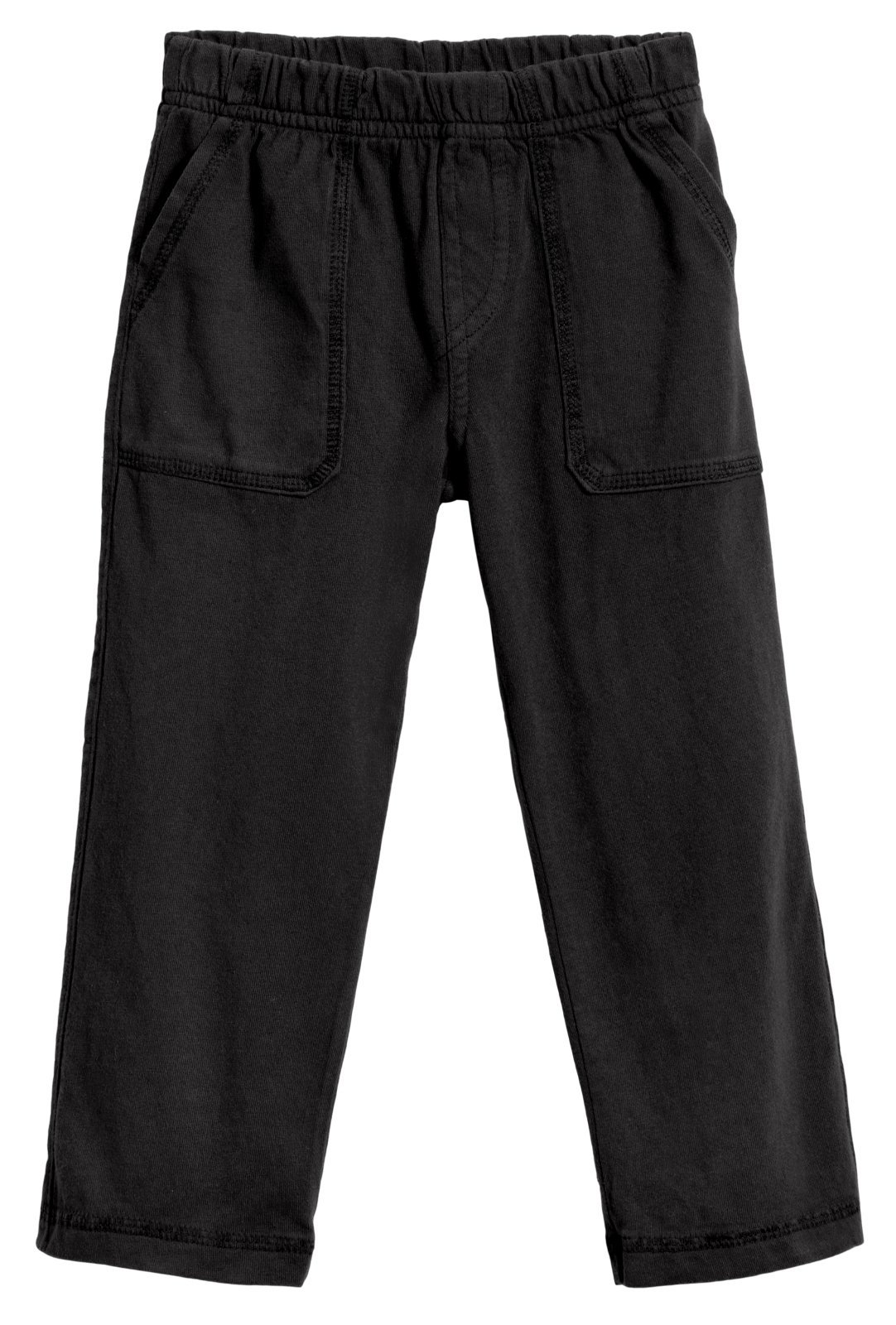 City Threads Big Boys' and Girls' Soft Jersey Tonal Stitch Pant Perfect for Sensitive Skin SPD Sensory Friendly Clothing - Black 10