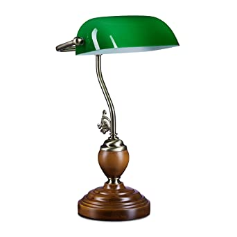Leseleuchte Bankers Lamp Klassiker Jugendstil Messing Lampe Schreibtischlampe