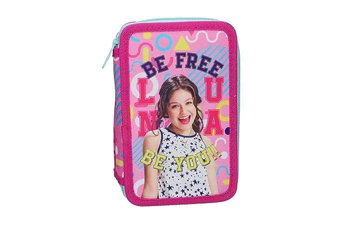 Soy Luna Estuche Lápiz caso de la escuela triple rosa 3 zip ...