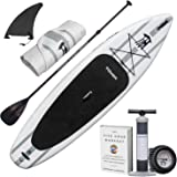 "TOWER Inflatable 10'4"" Stand Up Paddle Board - (6 Inches Thick) - Universal SUP Wide Stance - Premium SUP Bundle (Pump & Adjustable Paddle Included) - Non-Slip Deck - Youth and Adult"