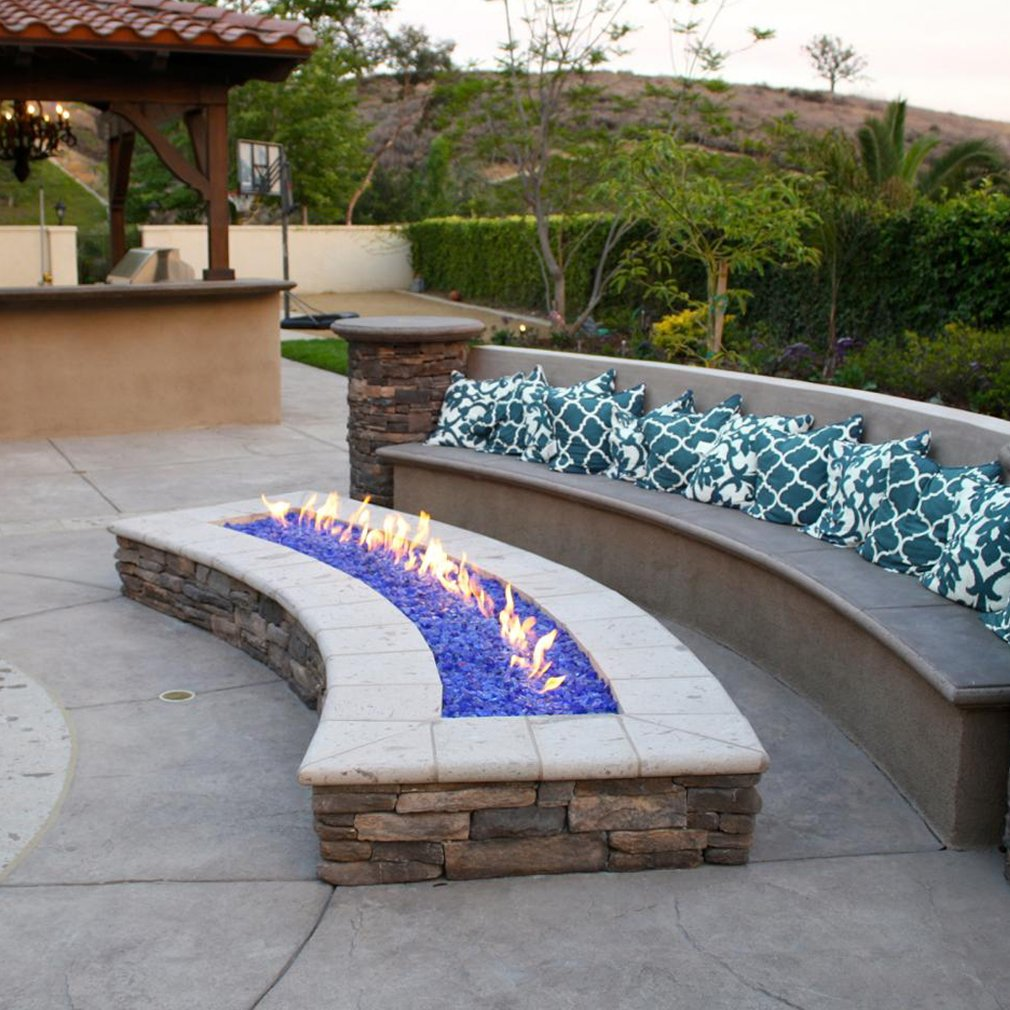 Ice Clear Skyflame 10-Pound Recycled Fire Glass for Fire Pit//Fireplace//Vase Fillers//Garden Landscapes