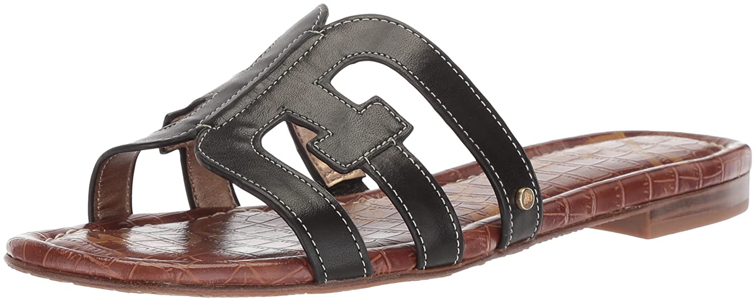 Sam Edelman Women's Bay Slide Sandal B0762TD1GS 8 B(M) US|Black Leather