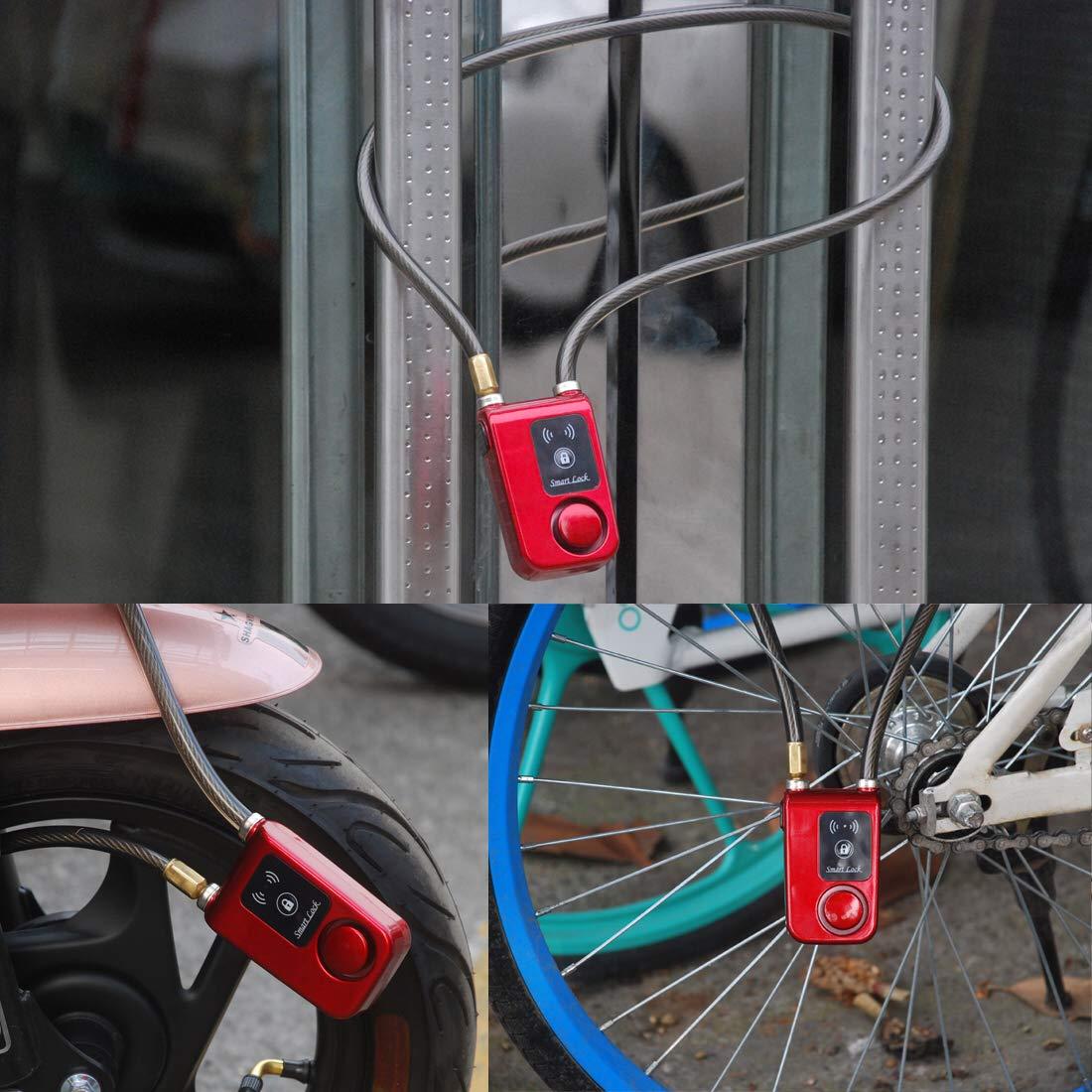 Solebe Bluetooth Smart Lock Keyless Bike//Motorcycle//Gate Door Smart Lock with Anti Theft Alarm 110dB Phone APP Control