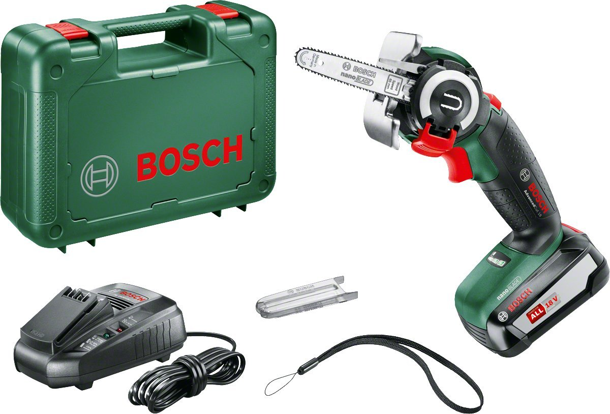 Bosch Cordless Saw Advanced Cut (2.5 Ah Battery 18 Volt System, 18 In)(the plug charger is EU, if used in USA needs a plug adapter for the charger)