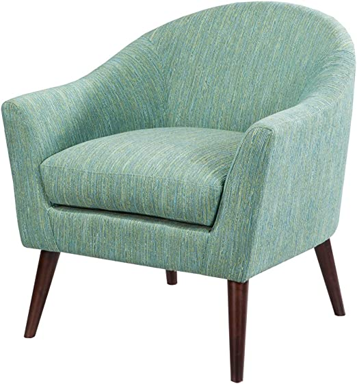 Madison Park Grayson Accent Chairs - Hardwood, Birch, Textured Fabric  Living Room Chairs - Pale Green, Modern Classic Style Living Room Sofa  Furniture ...