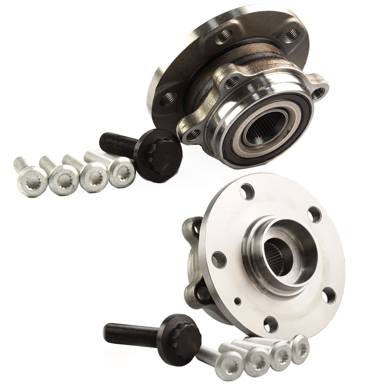 Bapmic 1T0498621 Front Wheel Hubs and Bearing Assembly for Volkswagen Audi ( Pack of 2 )