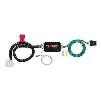 curt 56291 vehicle side custom 4 pin trailer wiring harness for select honda pilot Honda Pilot Tow Hitch Rack