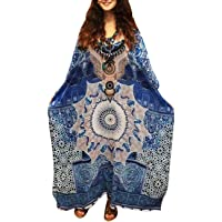 GRACIN Plus Size Kaftan Dress, Beach Kimono Cover Up, Nightdress Boho Dresses for Women