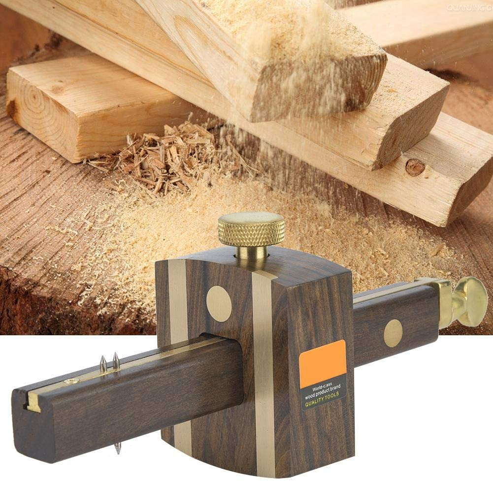Ebony Multifunctional Screw Marker 8 inch Carpenter Woodworking Marking Gauge Scraper Scriber
