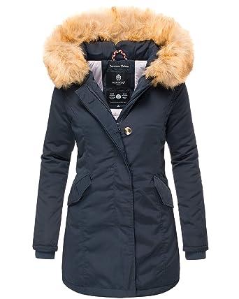 9722b66e880917 Marikoo Damen Winter Jacke Stepp Parka Mantel Winterjacke warm gefüttert  Kunstpelz KARMAA XS-XXL: Amazon.de: Bekleidung