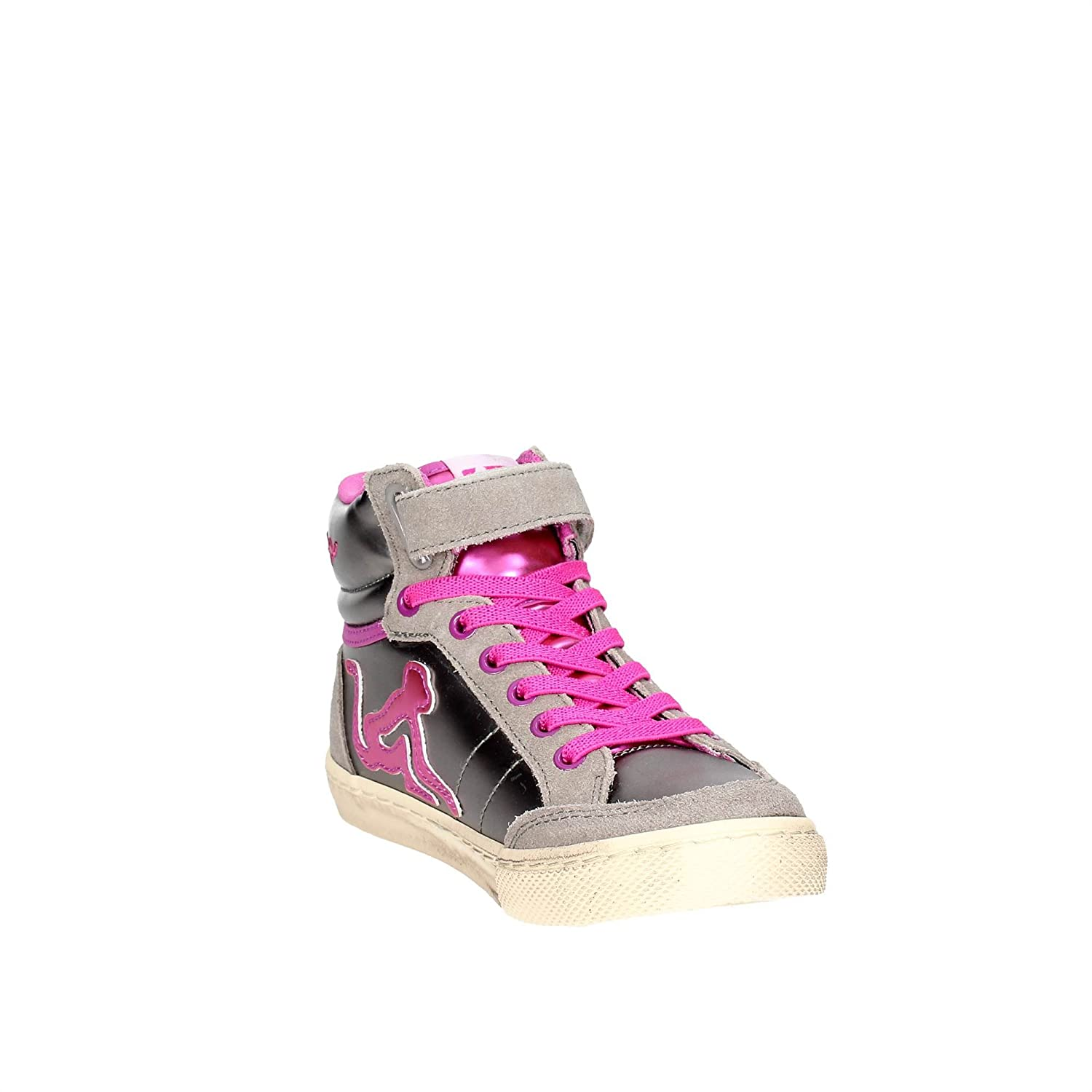 separation shoes a98b0 5a350 DrunknMunky Girls  Boston Rockstar Hi-Top Trainers, Silver  Amazon.co.uk   Shoes   Bags