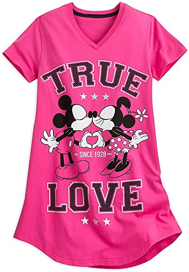 Disney Mickey and Minnie Mouse Nightshirt for Women Multi