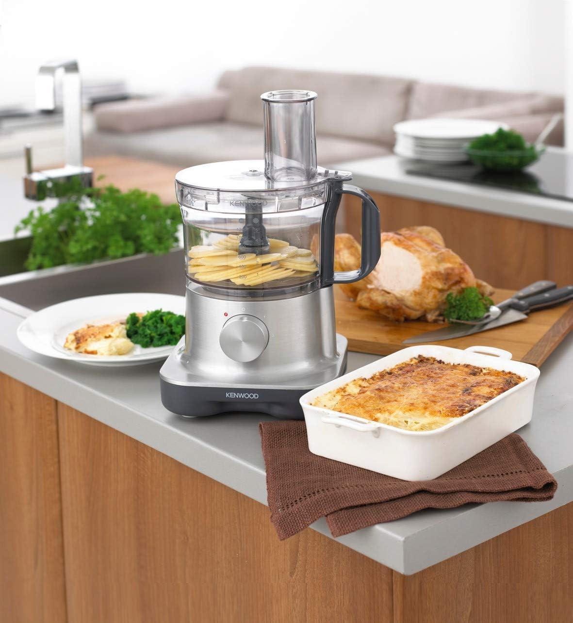 Kenwood FPM 250- Procesador de alimentos de aluminio 750W: Amazon.es: Hogar