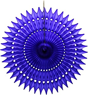 product image for 3-Pack 21 Inch Tissue Paper Fan (Dark Blue)