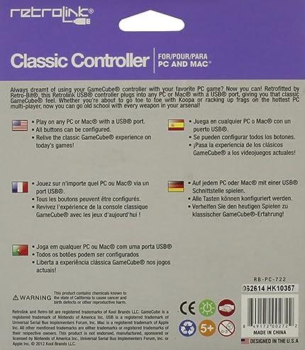 Amazon com: Retro Link GameCube Style USB Wired Controller: pc