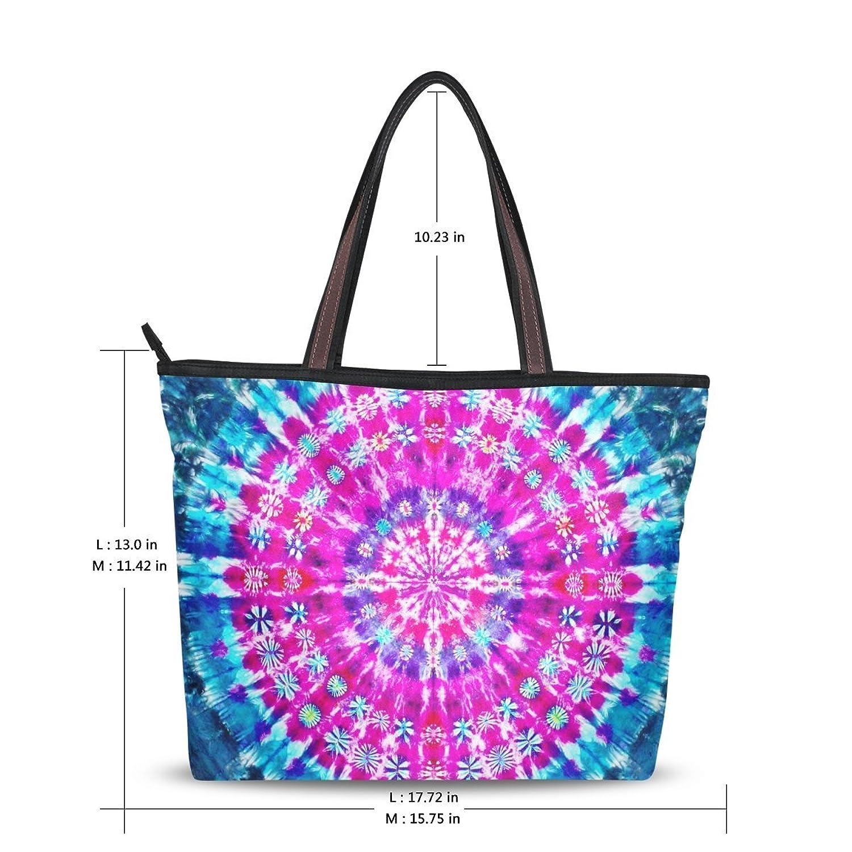 WHBAG New Design Handbag For Women,Unique Ethnic Tie Dye,Shoulder Bags Tote Bag