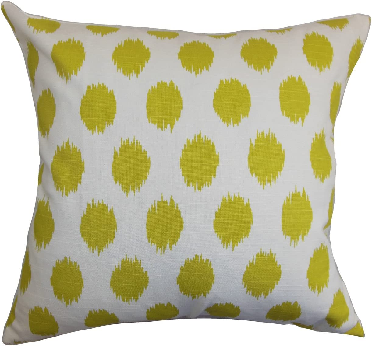 The Pillow Collection Kaintiba Ikat Pillow, Green White