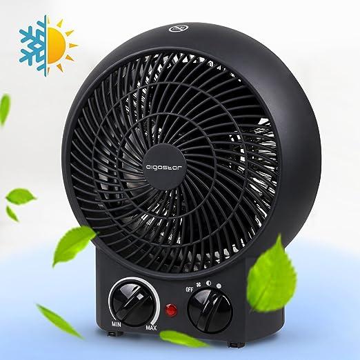Aigostar Airwin Black 33IEL- 2000W Calefactor de aire con ...
