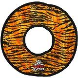 Tuffy Mega no Stuff Ring Dog Toy, Tiger