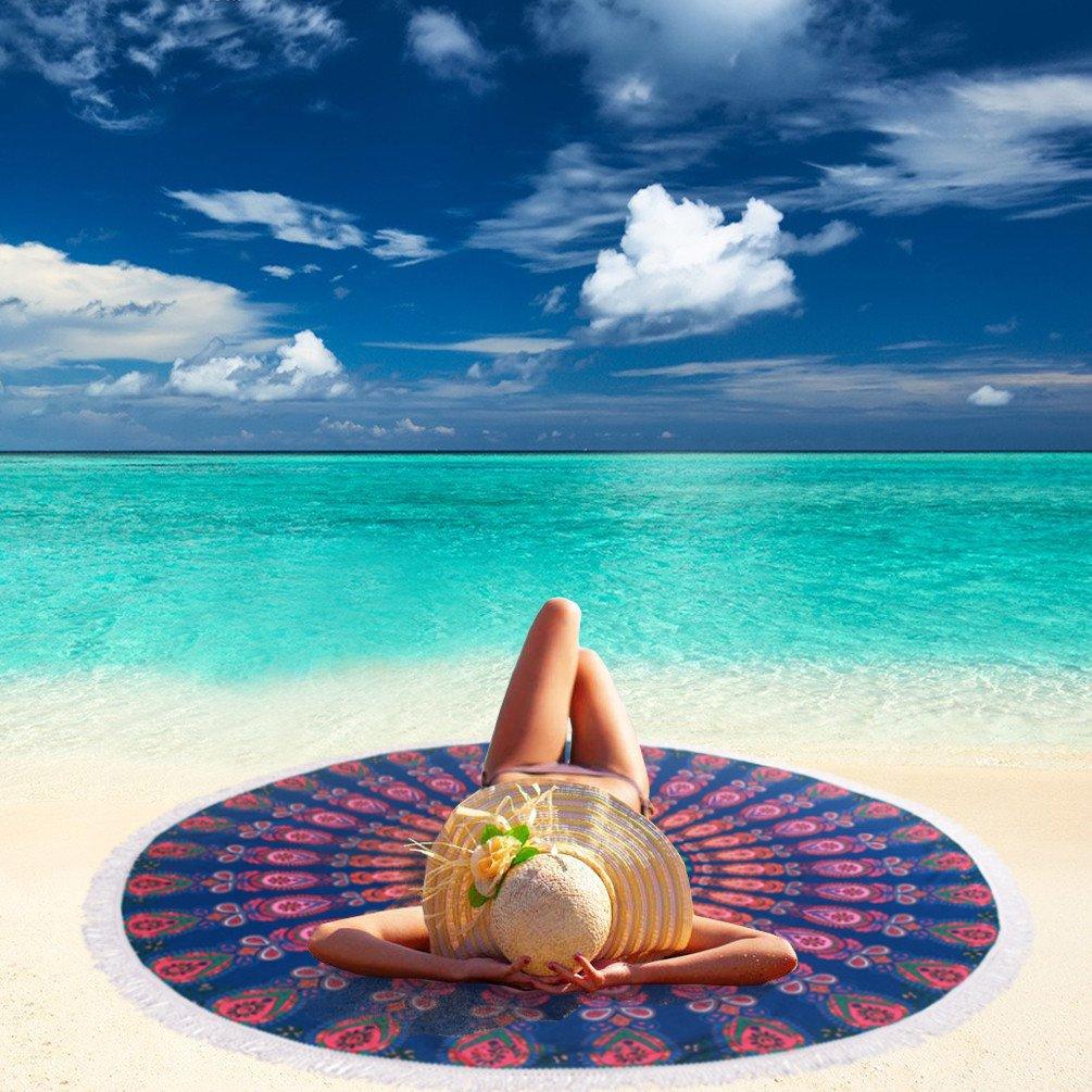 Hawaiian Beach Blanket: (16 Options) Thick Round Beach Towel Blanket Clearance