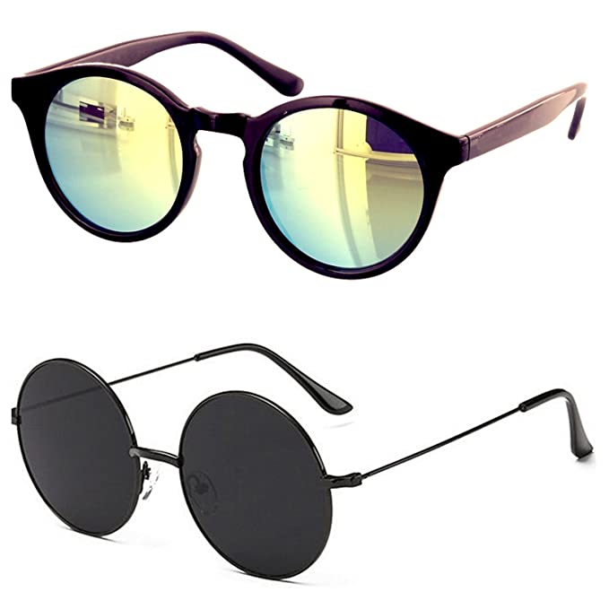 347f23f29e Younky Offers Combo Pack Of 2 Stylish Branded Mercury Sunglasses For Men  Women Boys   Girls (SRW-BllkRound