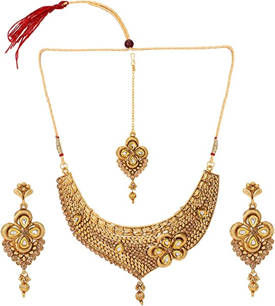 8bc83f07a Efulgenz Indian Bollywood Traditional White Rhinestone Faux Ruby Emerald Heavy  Bridal Designer Jewelry Choker Necklace Set