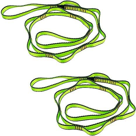 Geelife Daisy - Cuerda para Cadena (2 Unidades, 23 kN, para Escalada, Nailon, 137,2 cm)