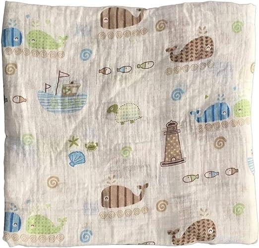 Peanutaso 120x120cm Manta de Muselina para bebé Manta para bebé ...