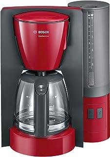 Bosch TKA3A034 CompactClass Extra Cafetera de goteo, capacidad para 10 tazas,1,25 litros, color rojo: Bosch: Amazon.es: Hogar