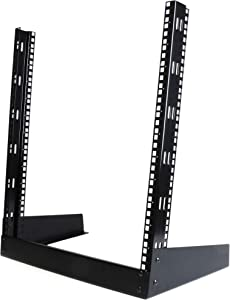"StarTech.com 12U Open Frame Rack - 19"" 2 Post Network Rack - Audio Video & IT Equipment Rack for Your Server Room - Free Standing (RK12OD)"