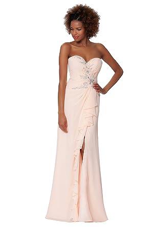 Amazon Com Sexyher Charming Strapless Diamond Covered Evening Dress