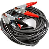Forney 52878 Jumper Battery Cables, Heavy Duty Booster #2 with 500 Amp Clamps, 25-Feet, Black And Red
