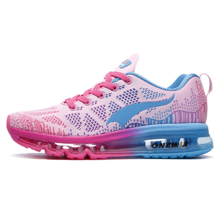 Weibliche Sportschuhe Schuhe Kissen Damen Schuhe Sommerschuhe Damen Kissen Freizeitschuhe leichte atmungsaktive Polsterung läuft Rosa b8d50f