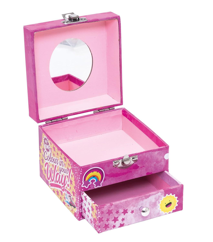 Soy Luna WD18013 - Caja de joyas de cartón, con espejo: Amazon.es: Juguetes y juegos