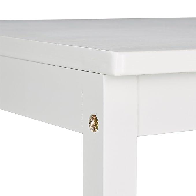 Relaxdays Toallero, ropero, toallero de pie, bambú, Aprox. 133 x 40 x 42 cm, Blanco