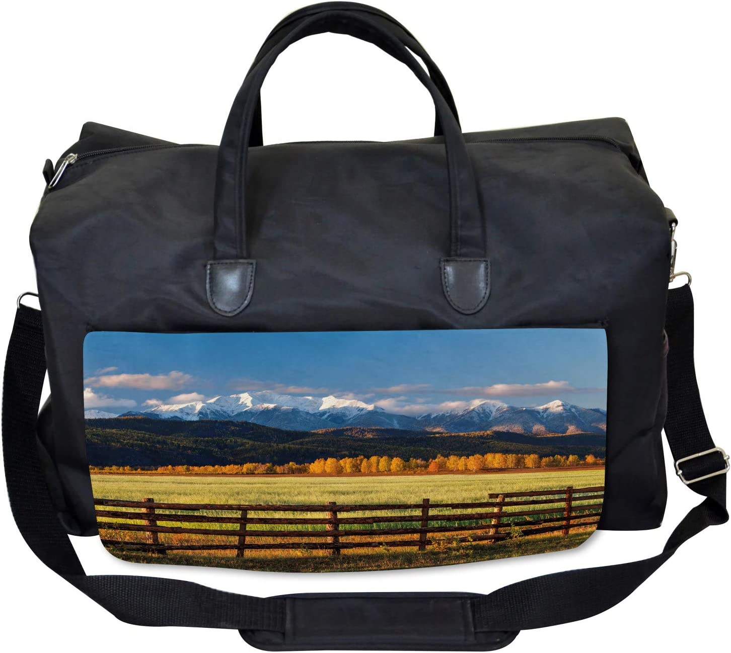 Ambesonne Abstract Gym Bag Large Weekender Carry-on Perspective Stripes