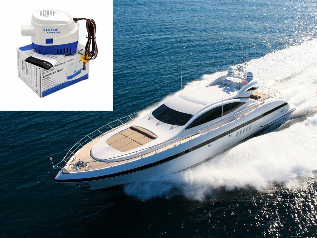 Amazon.com: MAXZONE Automatic Submersible Boat Bilge Water Pump 12v ...