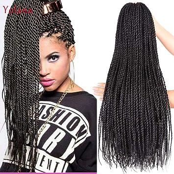 Amazon Com Synthetic Hair Senegalese Twist Crochet Braids Hair