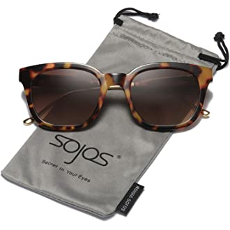 4df1b3d5746  9 SOJOS Classic Polarized Sunglasses for Women Men Mirrored Lens SJ2050