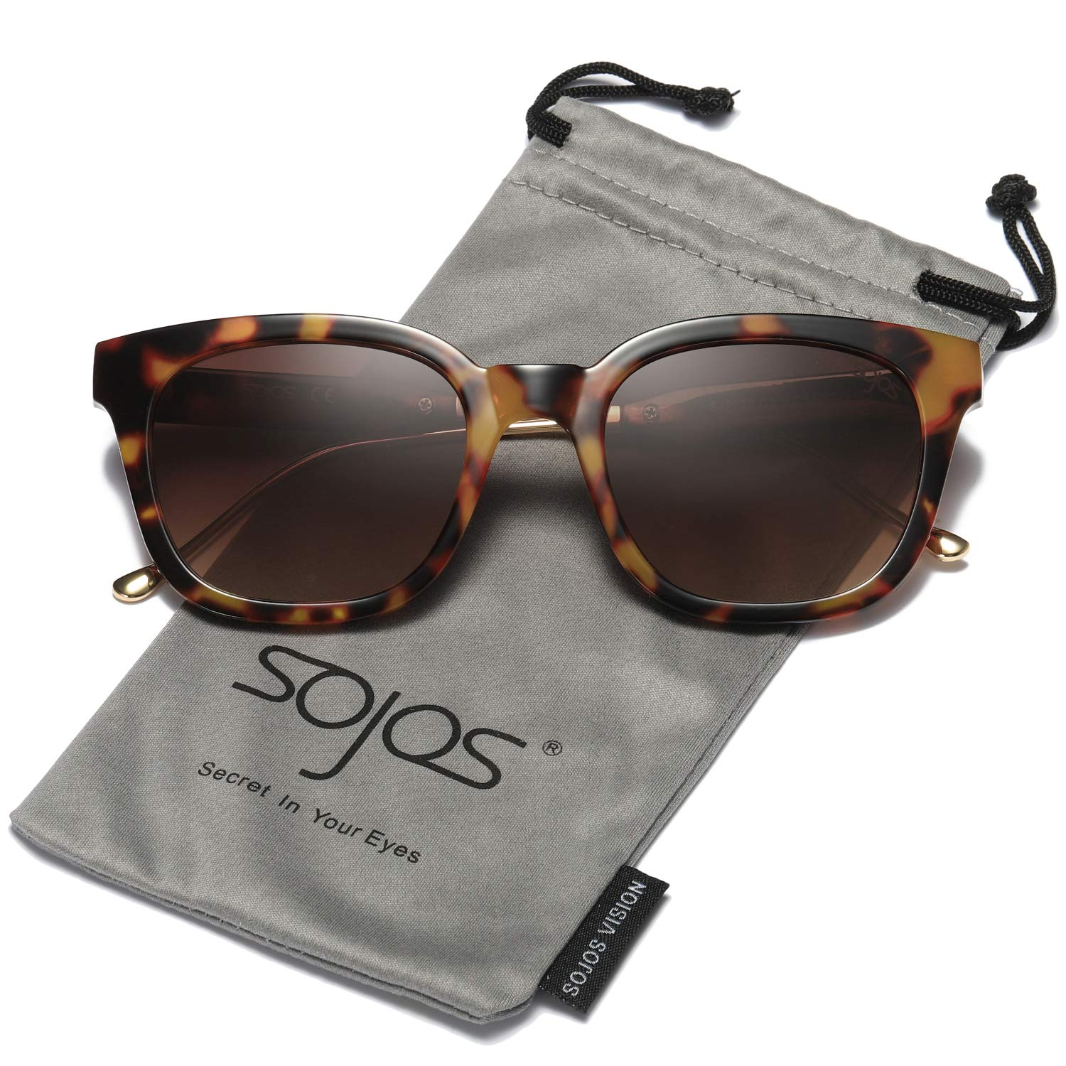 fe733320dd See all customer reviews · SOJOS Classic Polarized Sunglasses for Women Men  Mirrored Lens SJ2050 product image