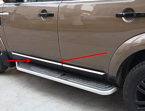Carbono 304 acero inoxidable accesorios puerta lateral moldura de la cubierta del marco de la cubierta