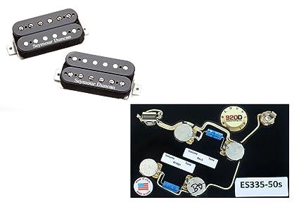 Amazon Com Duncan Sh 1 Vintage Blues Pickup Set Black Es 335 50s