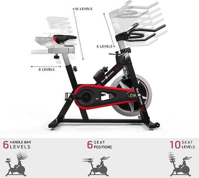 We R Sports Aerobio Entrenamiento Ciclo/Ejercicio Bicicleta Interior Ciclismo Máquina - Pesado Deber Marco con 13kg Volante: Amazon.es: Deportes y aire libre